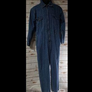 Vintage Denim Jumpsuit - Size Medium
